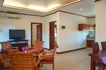 Living area of the Koh Samui longterm rental apartments