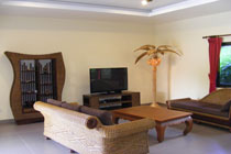 The comfotable livingroom of the holiday villa